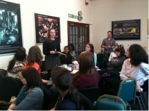 Breakout group at Swansea ScienceGrrl launch