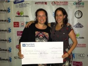 kiltwalk cheque