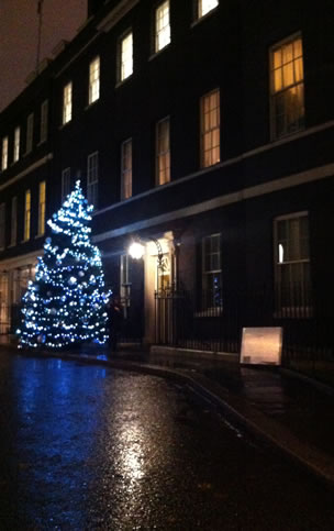 Christmas tree in Downing Street