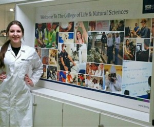Eleni in the College of Life and Natural Sciences at the University of Derby
