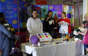 Aberdeen ScienceGrrl's superheroes stand