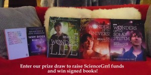 photo of the 5 books to be raffled