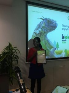 Hephzi collects her RSB award